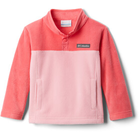 Columbia Steens Mountain 1/4 Snap Pullover In Pile Bambino, pink orchid/bright geranium
